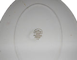 Vintage Danish Arabia White Ironstone Covered Serving Dish
