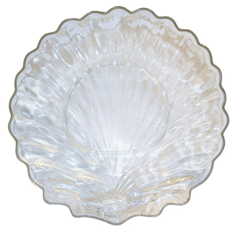 Mid Century Lucite Shell Bowl