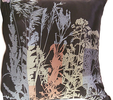 New Pillow - Vintage Silk Fabric, Black - Studio Lane at Reposed NY Vintage Home Decor