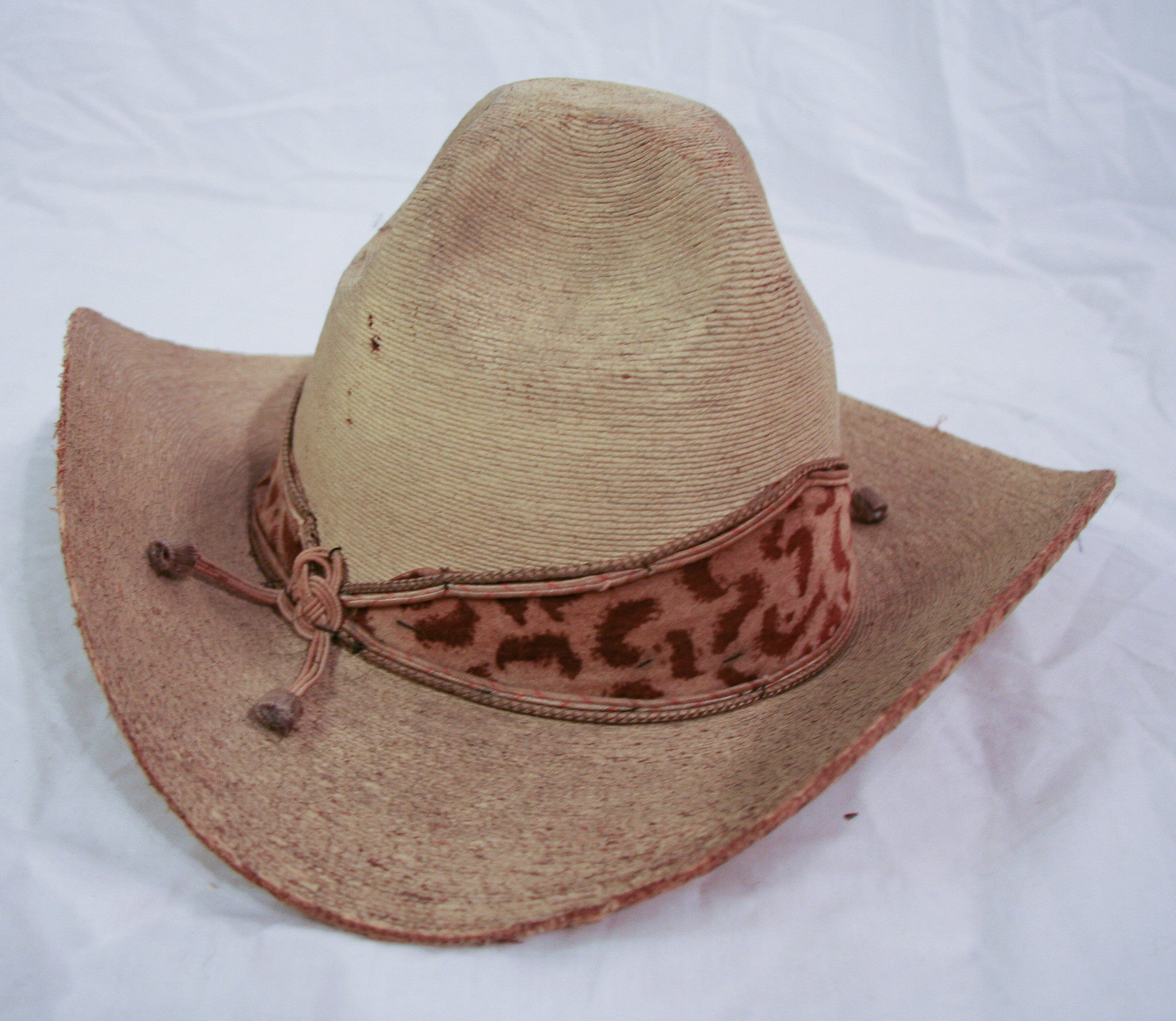 Old Western Hat with Faux Leopard Band