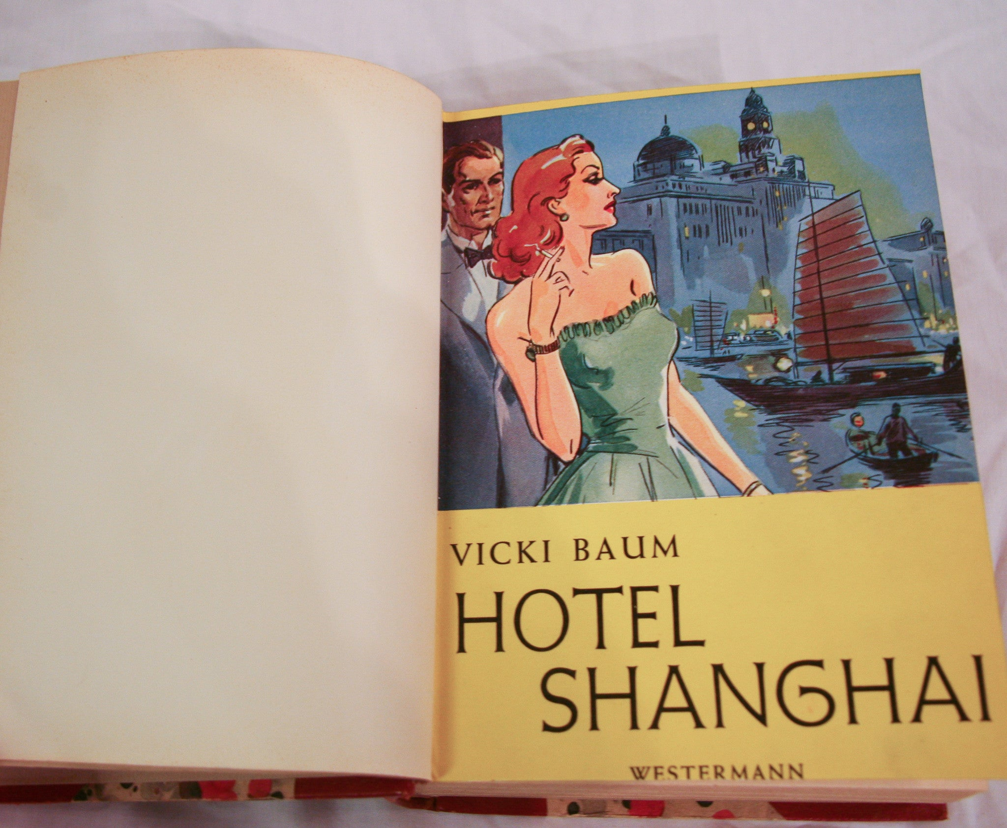 Vintage Hotel Shanghai Book - Leather Bound