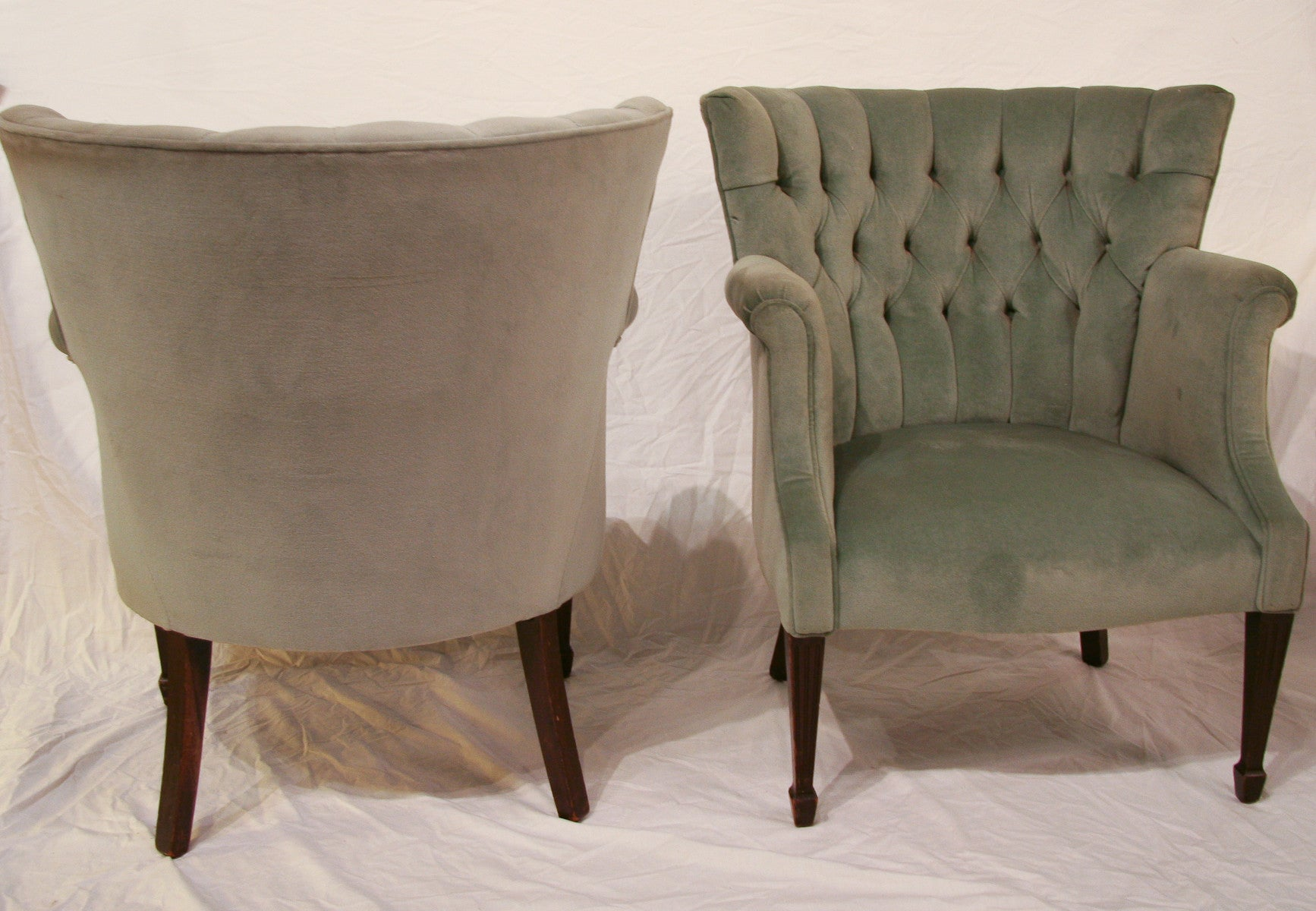 Pair, 1940's Wing Back Chairs