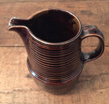 Vintage American Brown Pottery Pitcher