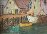1940's Painting, The Harbor