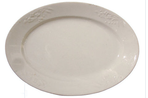 Vintage Powell & Bishop White Ironstone Platter
