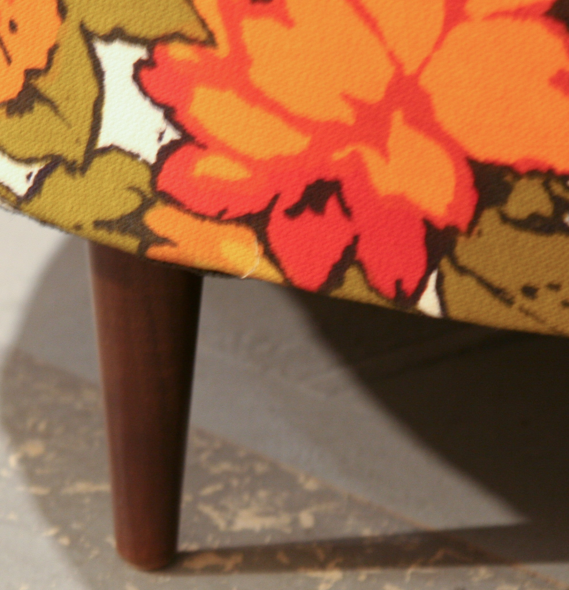 Mid Century Adrian Pearsall Style Floral Chair
