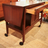 Mid Century Server - Tea Cart - Studio Lane at Reposed NY Vintage Home Decor