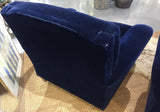 Pair, Ralph Lauren Cobalt Blue Velvet/Mohair Club Chairs