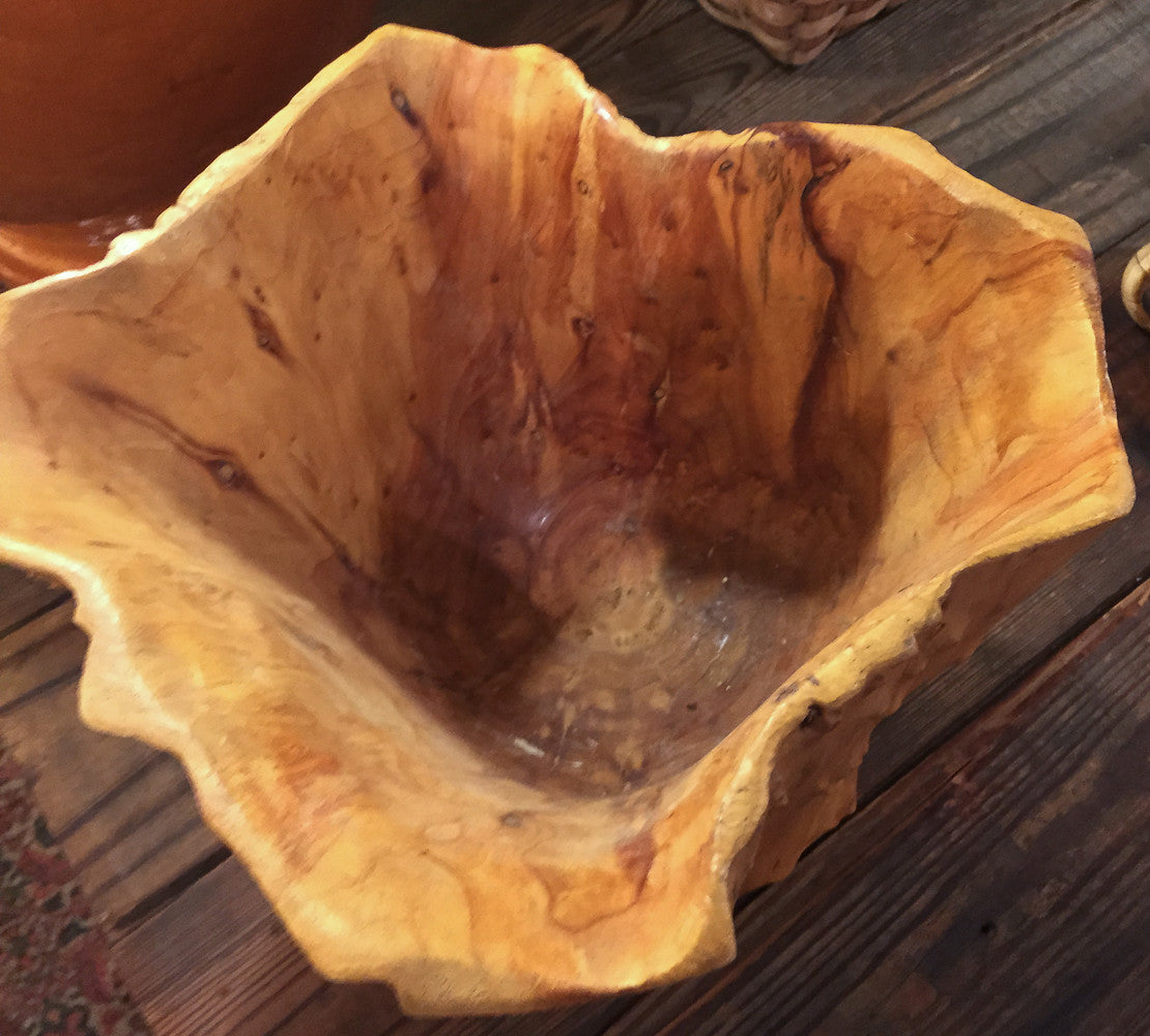 Burl Wood Container