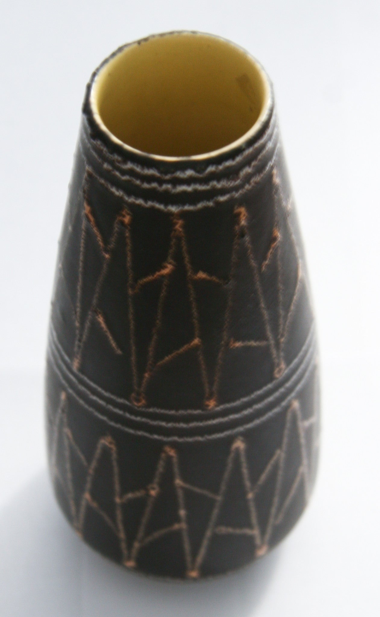 Vintage West German Pottery Vase - Small Brown - Scheurich
