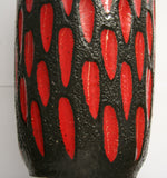 Vintage Scheurich West Germany Red/Black Vase - Studio Lane at Reposed NY Vintage Home Decor