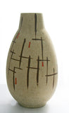 West German Large pottery Vase - Ivory
