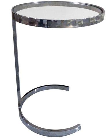 Mid Century Chrome Side Table