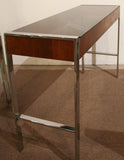 Mid Century Chrome Console, Sofa Table
