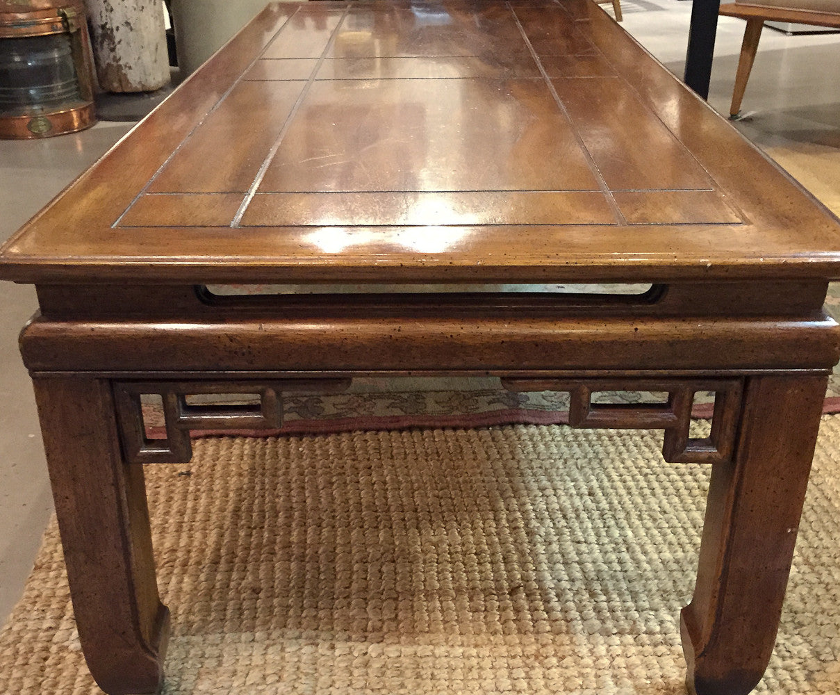 Mid Century Asian Style Coffee Cocktail Table