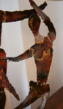 Mid Century Copper Dancers Statue - Signed Earl - Studio Lane at Reposed NY Vintage Home Decor