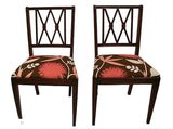 Pair, 1940's Side Chairs - New Upholstery