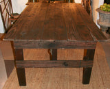 Antique 6 Foot Barn Wood Dining Table