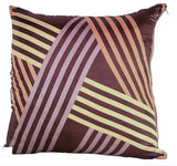 New Pillow, Vintage Silk Fabric - Graphic Pattern - Studio Lane at Reposed NY Vintage Home Decor