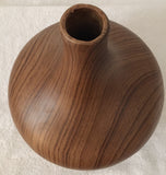 Mid Century Wood Grain Vase