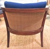 Signed, Mid Century Thayer Coggin Milo Baughman Caned Chair
