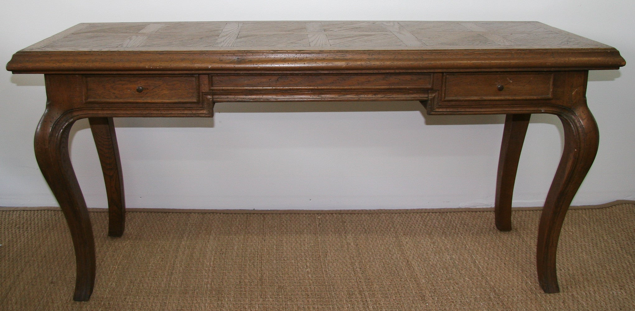 French Style Parquet Top Desk, Console Table