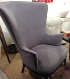 1930's Butterfly Wing Back Chair - New Upholstery