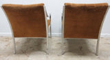 Pair, Mid Century Flat Stock Chrome Chairs