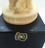 Pair, mid century A. Gianelli Alabaster Elephant Bookends