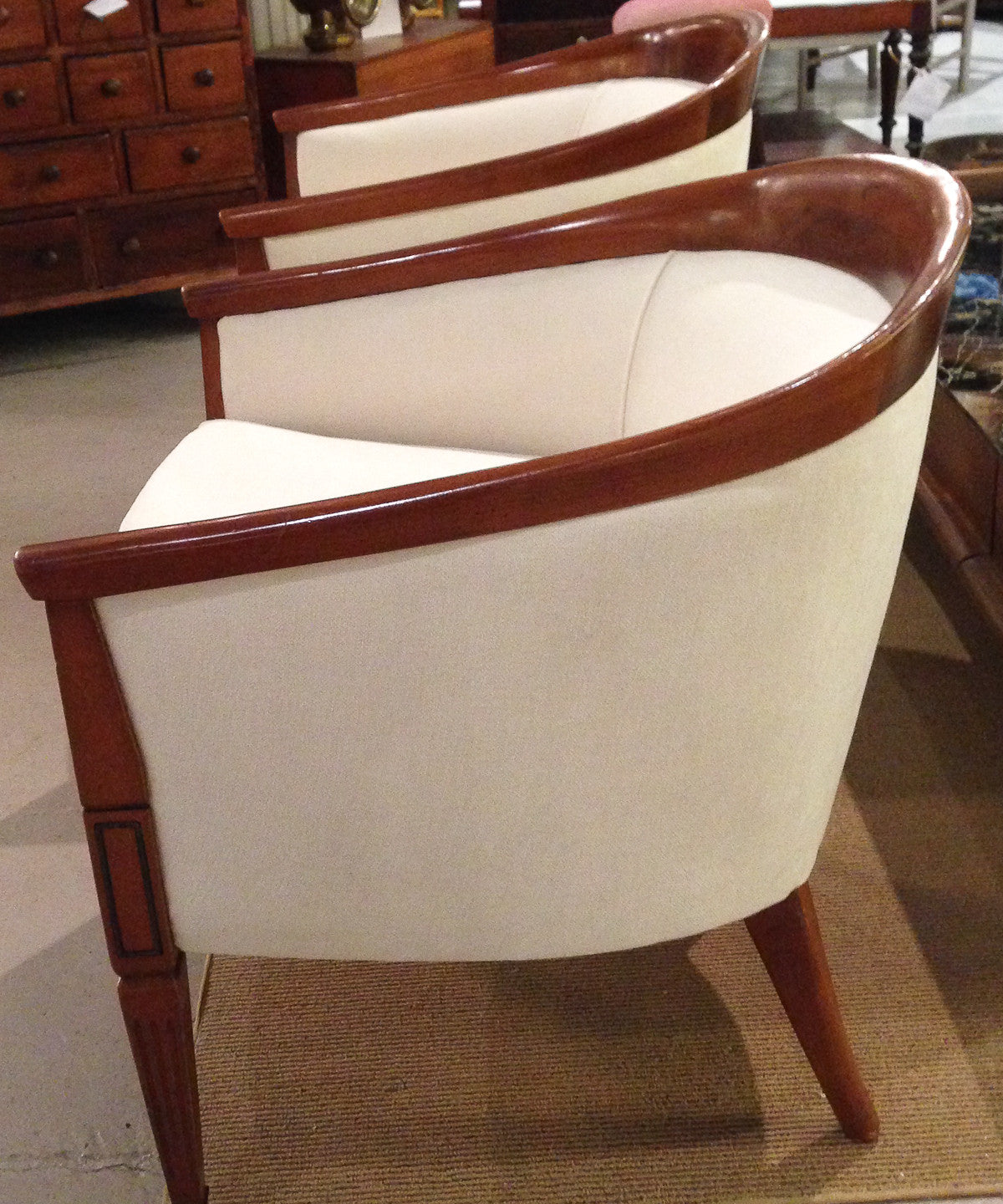 Mid Century Round Back, Barrel Back Chairs