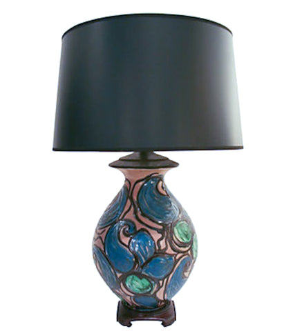 Mid century Asian ceramic lamp