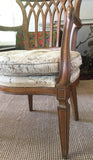 Vintage Pierced Back English Hepplewhite Style Chair