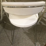 Calligaris Cantilver Chrome and Leather Chair