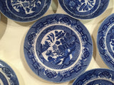 Lot of 14 pcs - Vintage Blue Willow Plates and Bowls