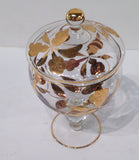 Mid Century Glass Compote Dish - Studio Lane at Reposed NY Vintage Home Decor