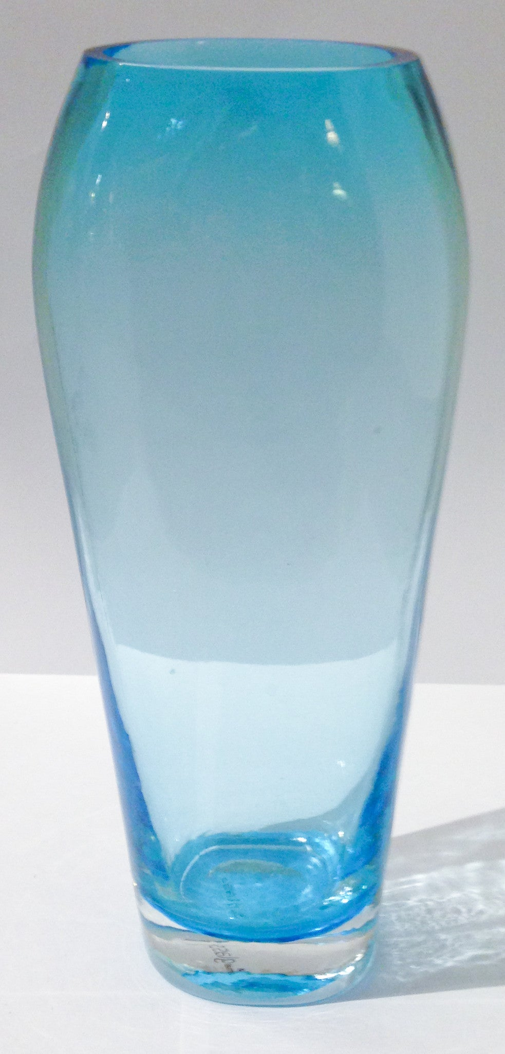 Mid Century Blue Glass Flower Vase - Studio Lane at Reposed NY Vintage Home Decor