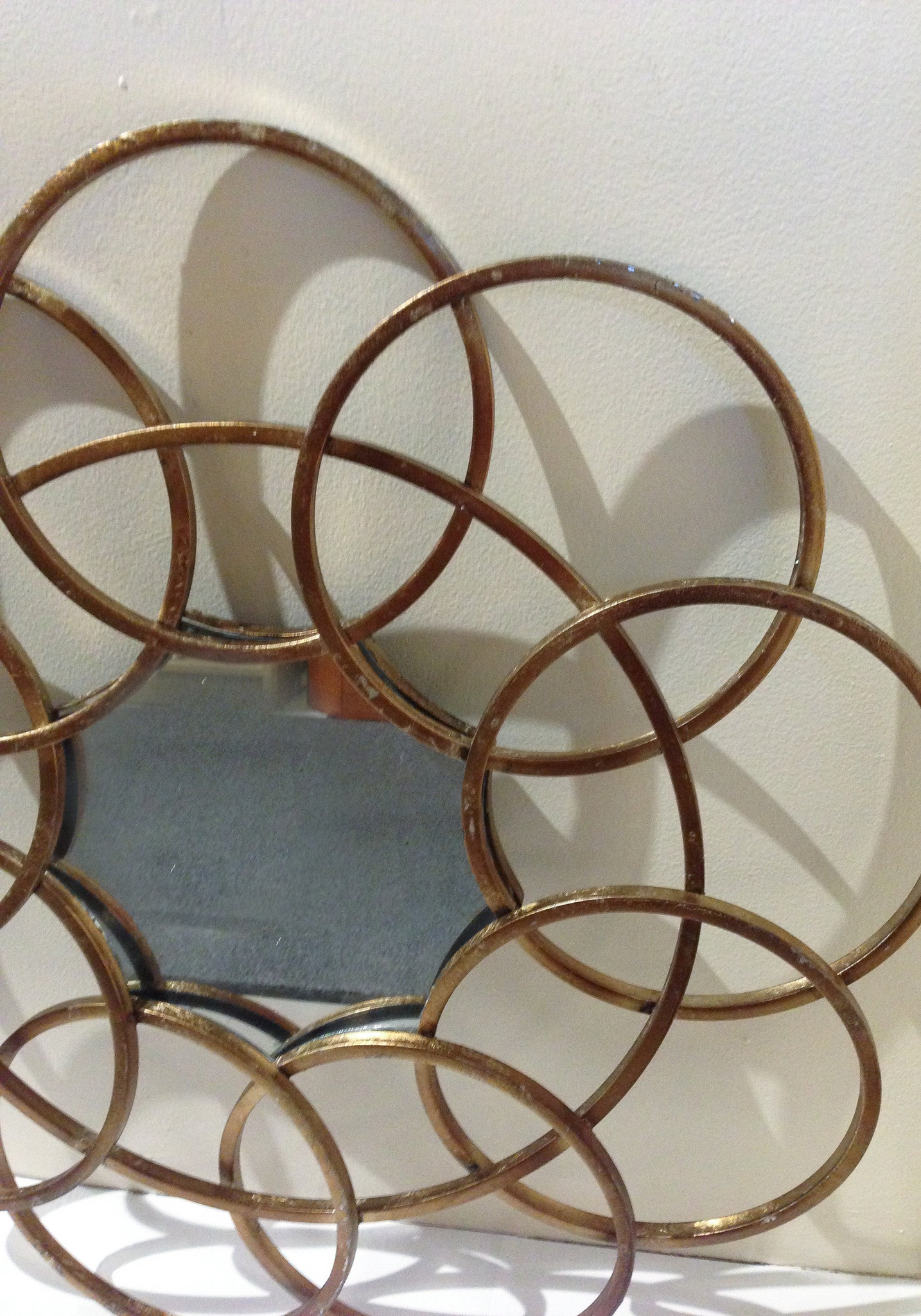 Mid Century Metal Circle Mirror - Studio Lane at Reposed NY Vintage Home Decor