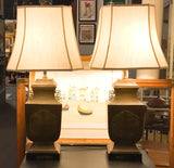 Mid Century Asian Brass Frederick Cooper Wildwood Lamps