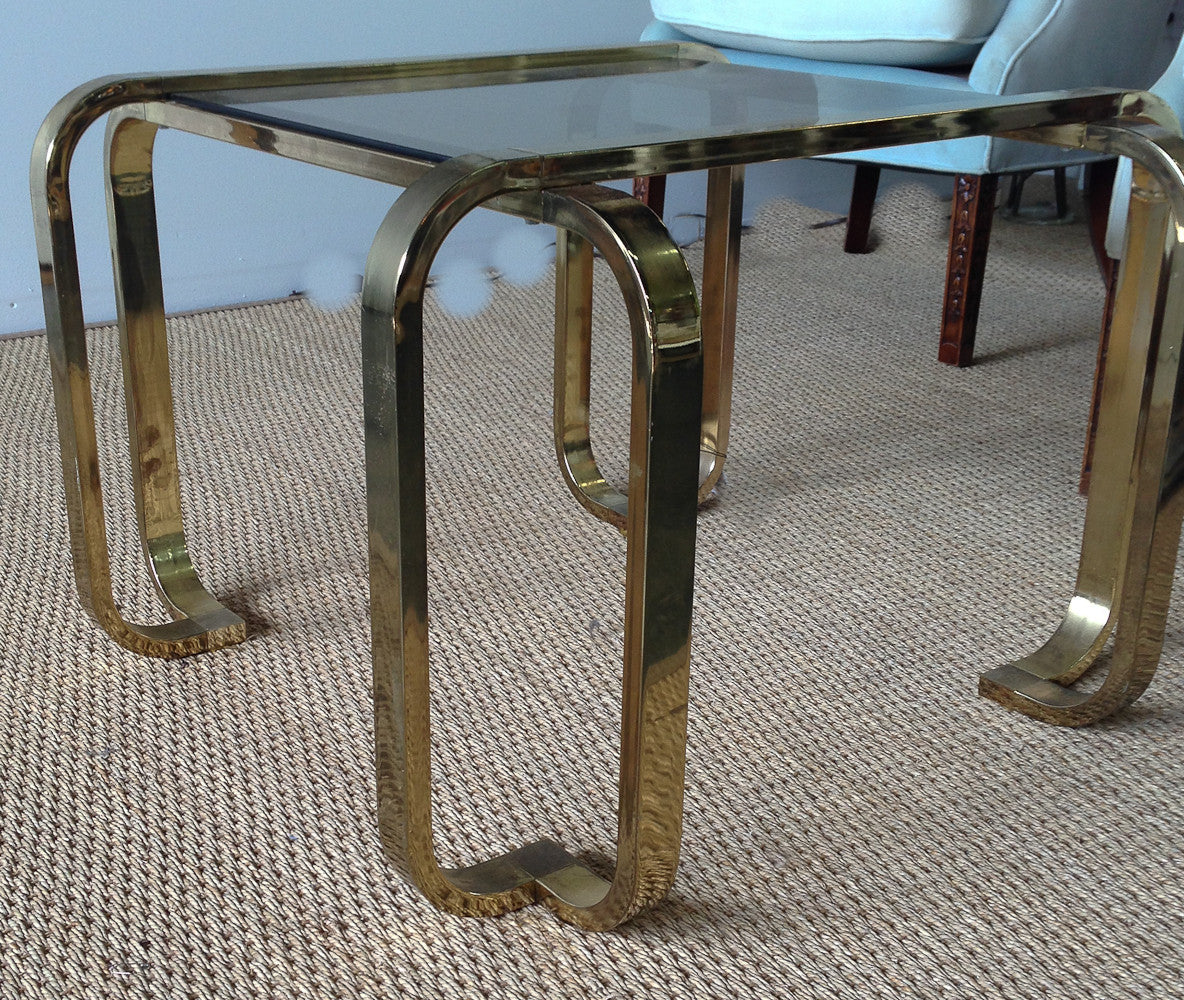 Mid Century Brass Coffee, Cocktail Table