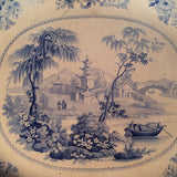 Antique Staffordshire Platter - Elkin Knight Bridge - Canton Views