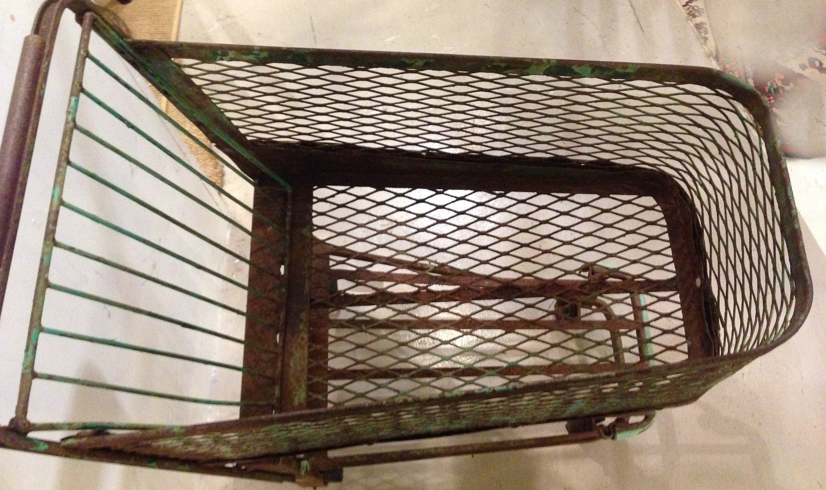 Vintage 1930's Original American Grocery Store, Shopping Cart