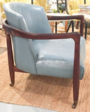 Mid Century Attr. Ib Kofod Larsen Leather Arm Chair