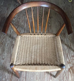 Mid Century Spindle Back Rope Seat Chair