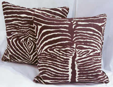 Pair Zebra Pillows