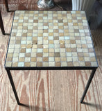 Mid Century Tile Top Metal Table