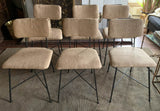 Set of 6 Arthur Umanoff Style Dining Chairs