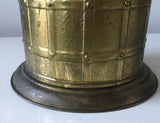 Vintage Brass Umbrella Stand, Vase, Made in England