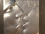 "Mid Century Sculptural ""Silver Kiss"" Wall Art"