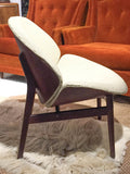 Mid Century Curved Back Lounge Chair