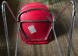 Vintage Chrome Chair in Red